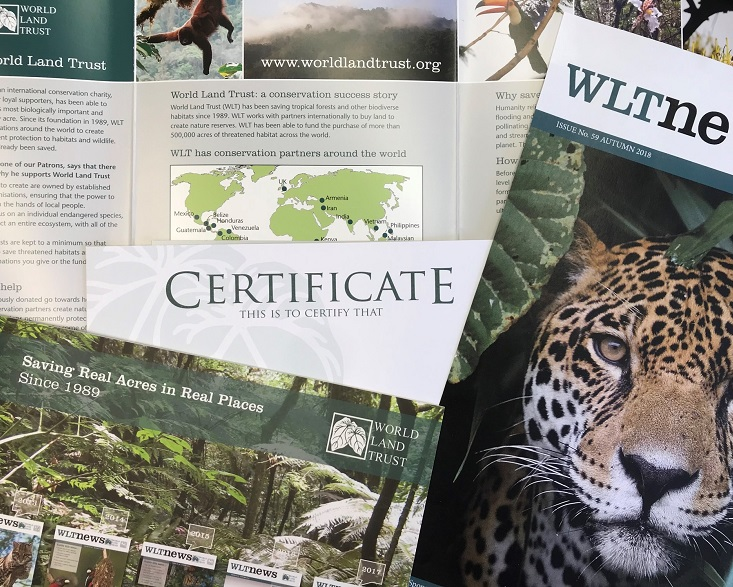 WLT gift donation pack with certificate