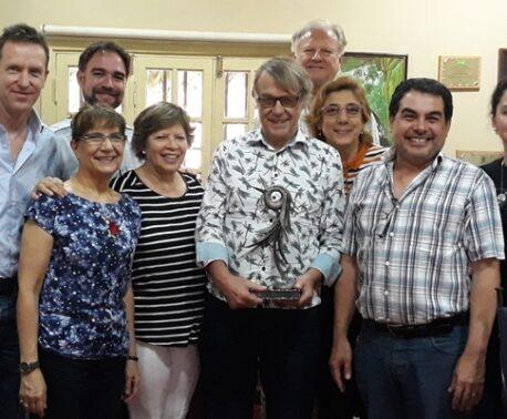 WLT Founder John Burton presented with Grito de la Selva award. Image: Guyra Paraguay
