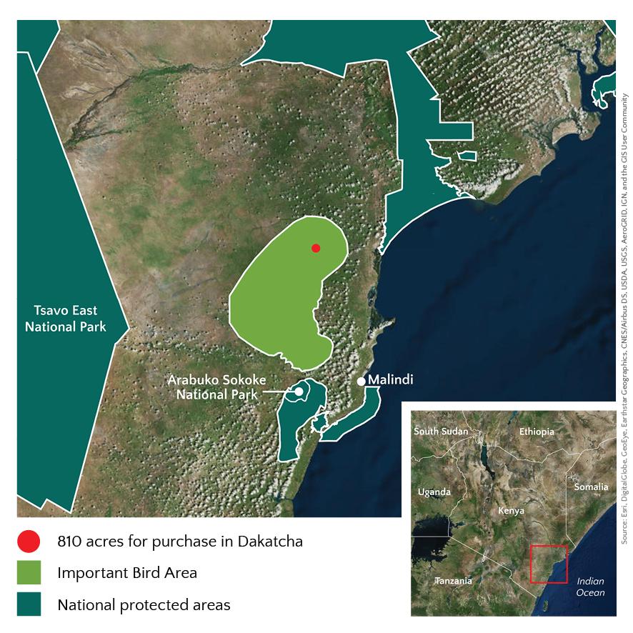 Dakatcha land purchase map