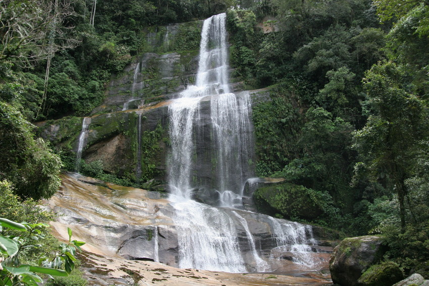 Waterfall on the Green Trail, REGUA. © Lee Dingain.