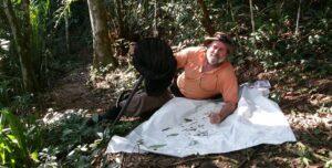 Dr Renner Baptista in the forest at REGUA, Brazil. Credit: Lee Dingain