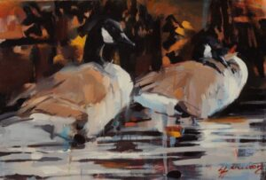 Canada Geese painting by Lorna Hamilton.