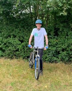WLT CEO Jonathan Barnard with his bicycle
