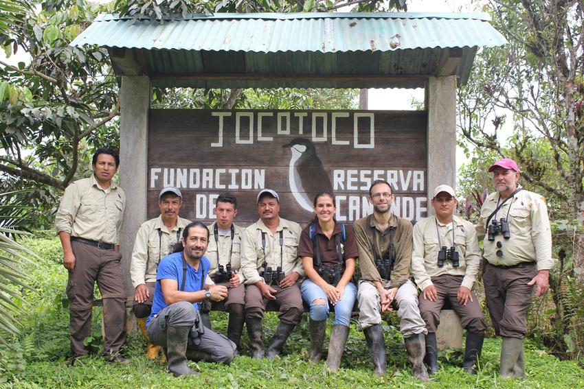 Fundación Jocotoco team at Canande reserve