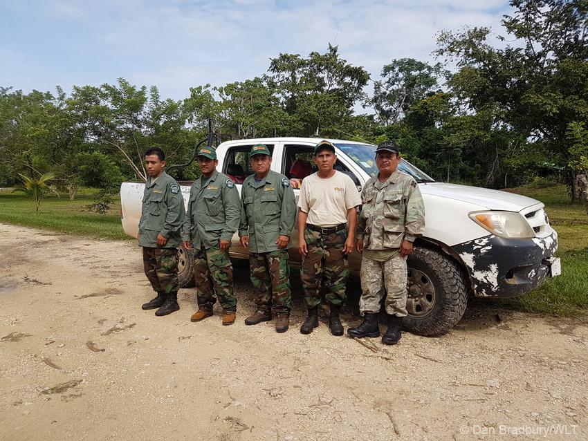 Programme fro Belize rangers at the Hill Bank Field Station ©Dan Bradbury/WLT
