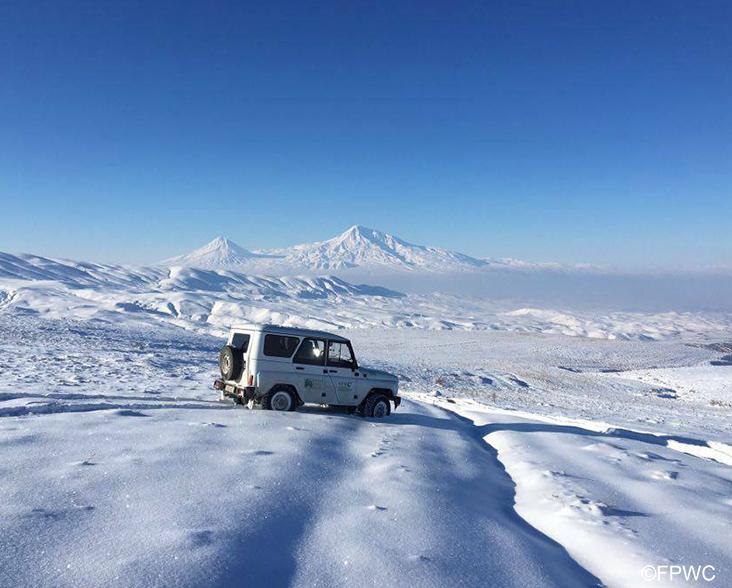 Snowscape in Armenia