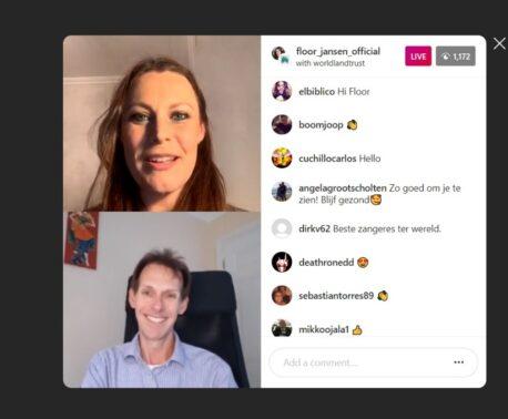 Floor Jansen and Jonathan Barnard chat on Instagram