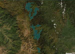 Andean Páramo and Cloud Forest Corridor -map