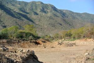Evidence of sand mining, Margarita island ©Bethan John