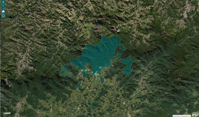 Map of REGUA
