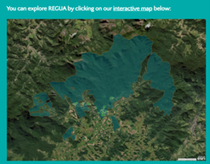 Map of REGUA reserve