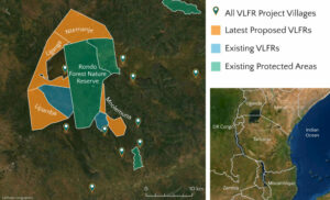 TFCG Map of Village reserves in Tanzania